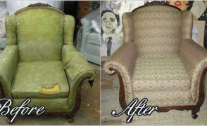Armchair Reupholstering Project