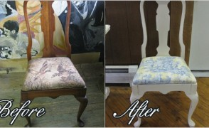 Dining Room Chair Reupholstering Project